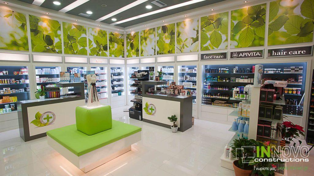 Ανακαίνιση Φαρμακείου στις Αχαρνές από την Innovo Constructions