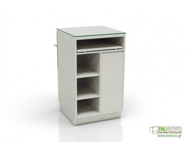 1003-DESK Πάγκος εργασίας C-Ladder desk back white