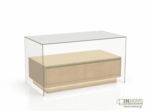 1015 Πάγκος εργασίας C-Lumi Cube B light wood