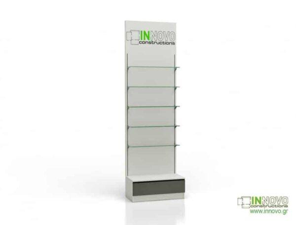 Βιτρίνα φαρμακείου D Standard column single box with graphic
