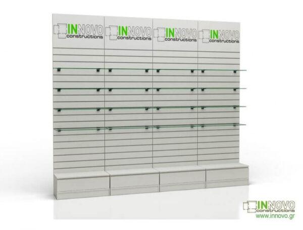 Βιτρίνα φαρμακείου D-Standard SET BOX SINGLE COLUMN