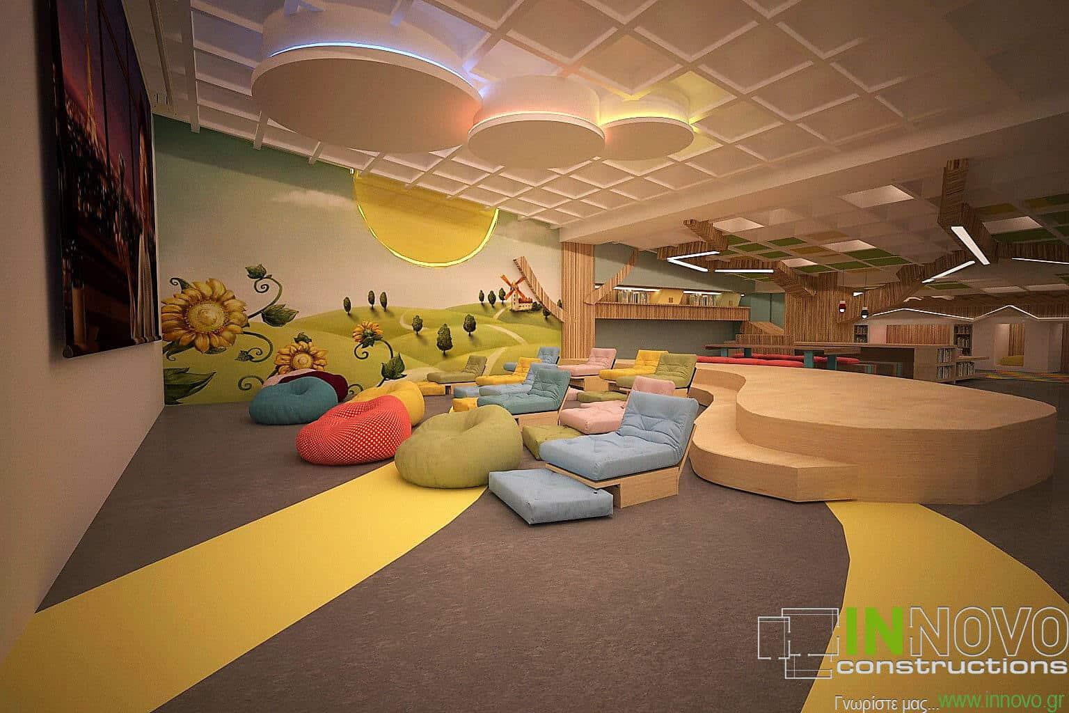 Μελέτη κατασκευής χώρου παιδικών πάρτι στην Κηφισιά