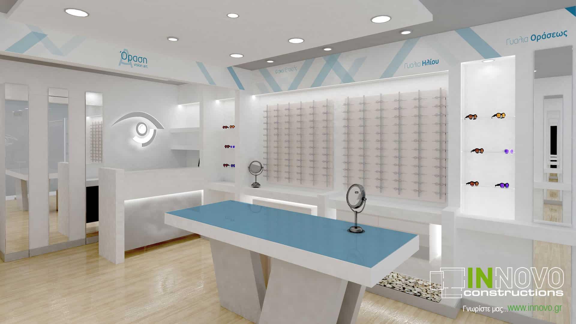 Επίπλωση οπτικού καταστήματος στο Πέραμα